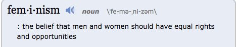 Feminism - Definition and More from the Free Merriam-Webster Dictionary Google Chrome, Today at 1.55.51 PM