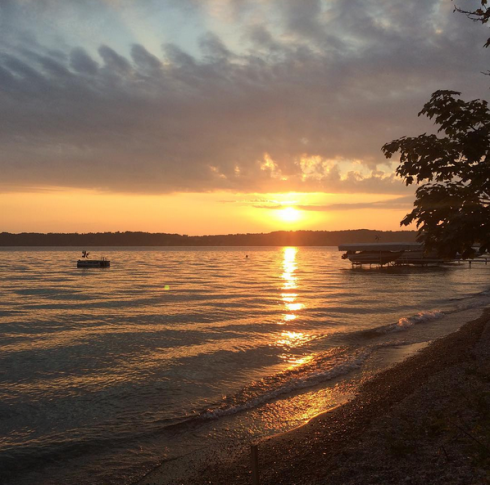 "Anastasia Kristina on Instagram. ""paradise found in Michigan #nofilter #laborday #torchlake"" Google Chrome, Today at 6.45.24 PM"